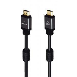 POWERTECH καλώδιο HDMI 2.0 CAB-H100 prime, 4K 3D, copper, μαύρο, 10m CAB-H100