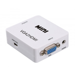 POWERTECH Video Converter VGA & 3.5mm Audio σε HDMI CAB-H107, Full HD CAB-H107