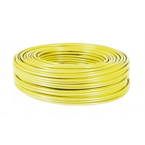 POWERTECH καλώδιο UTP Cat 5e, Μονόκλωνο, CCA, κίτρινο, 100m CAB-N097