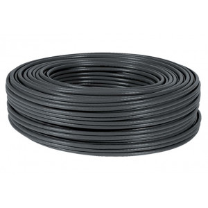POWERTECH καλώδιο UTP Cat 5e, εξωτερικής χρήσης, χάλκινο, Black, 100m CAB-N104