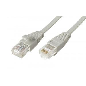 POWERTECH Καλώδιο UTP Cat 6e, copper 24AWG, 0.5mm patch cord, 10m, γκρι CAB-N109