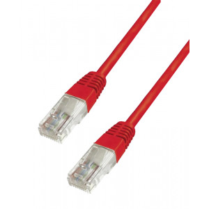 POWERTECH καλώδιο UTP Cat 6e CAB-N138, CCA 24AWG 0.5mm, 0.30m, κόκκινο CAB-N138