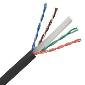 POWERTECH καλώδιο UTP Cat 6e CAB-N147, CCA 24AWG 0.5mm, PET, 305m, μαύρο CAB-N147