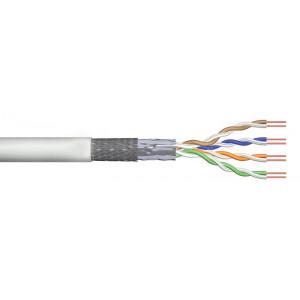 POWERTECH καλώδιο SF/UTP Cat 5e CAB-N158, CCA 26AWG 0.4mm, 100m, γκρι CAB-N158