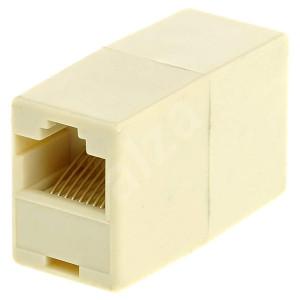 POWERTECH σύνδεσμος (μούφα) RJ45 UTP CAB-N182, 8p8c, λευκό, 5τμχ CAB-N182