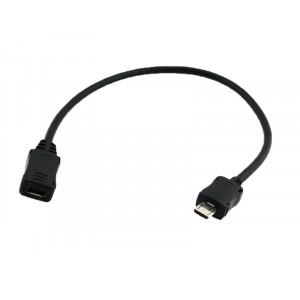 POWERTECH καλωδιο USB Micro σε USB Mini female, 0.2m CAB-U072