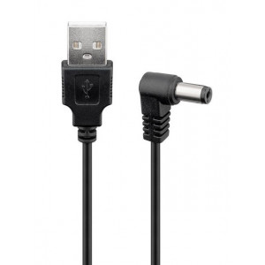 POWERTECH Καλώδιο USB 2.0(M) σε DC 5.5x2.1mm (F) CAB-U121, copper, 1.5m CAB-U121