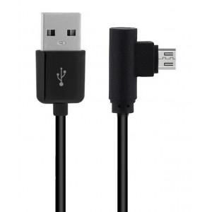 POWERTECH Καλώδιο USB 2.0 σε USB Micro 90°, Dual Easy USB, 2m, μαύρο CAB-U125