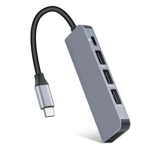 USB Type-C HUB CAB-UC045, 3x USB 3.0, USB-C PD, HDMI 4K CAB-UC045