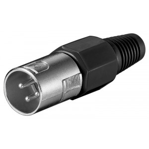 POWERTECH βύσμα μικρόφωνου XLR CAB-V034, 3 Pin, μαύρο CAB-V034