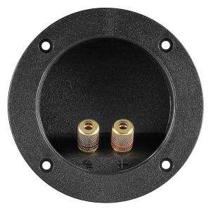 POWERTECH τερματικό ηχείου 6mm ή banana plug 4mm CAB-V036, μαύρο CAB-V036