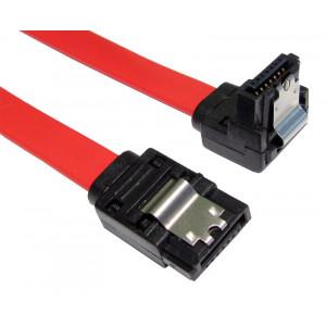 POWERTECH Καλωδιο SATA 7-pin σε 7-pin 90ο, Metal Clip, 0.5m CAB-W018