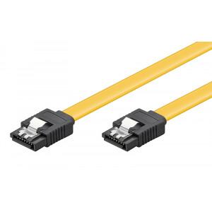 POWERTECH Καλώδιο SATA III 7-pin σε 7-pin, Metal Clip, 0.2m CAB-W023