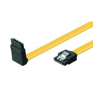 POWERTECH Καλώδιο SATA III L 7-pin σε 7-pin 90°, Metal Clip, 0.5m CAB-W028