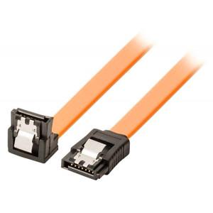 POWERTECH καλώδιο SATA CAB-W043, 90° Clip, 6 Gbits, 0.40cm, πορτοκαλί CAB-W043