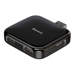 BASEUS USB hub CAHUB-CW01, 4x USB 2.0, 480mbps, μαύρο CAHUB-CW01