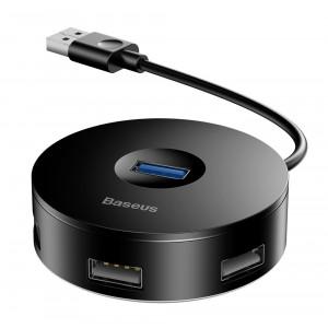 BASEUS USB hub CAHUB-F01, 1x USB 3.0, 3x USV 2.0, μαύρο CAHUB-F01