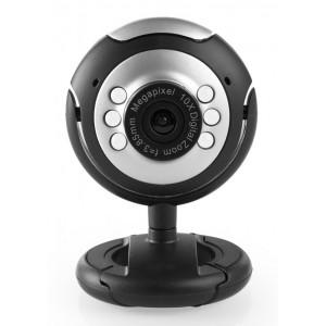 Web Camera CAM01, 0.3MP, 30fps, Plug & Play, μαύρη CAM01