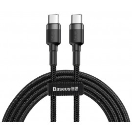 BASEUS καλώδιο USB Type-C CATKLF-HG1, 3A 60W, PD2.0, 2m, μαύρο-γκρι CATKLF-HG1