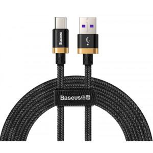 BASEUS καλώδιο USB σε USB Type-C CATZH-BV1, 40W 5A, 2m, μαύρο CATZH-BV1