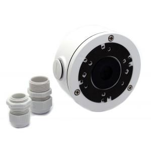 LONGSE Μεταλλική βάση στήριξης καμερών Dome και Bullet CCTV-B004, λευκή CCTV-B004