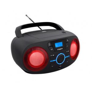 BIGBEN Φορητο ηχοσυστημα CD61NUSB, FM/CD/USB, LED, μαυρο CD61NUSB