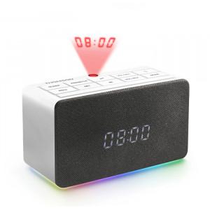 THOMSON Ξυπνητήρι CL300P με προβολέα ώρας, FM Radio, USB, LED, λευκό CL301P