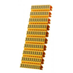 POWERTECH Clip αριθμησης καλωδιου Νο 3, Orange, 10τεμ. CLIP-004