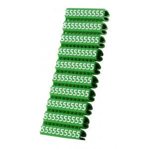 POWERTECH Clip αριθμησης καλωδιου Νο 5, Green, 10τεμ. CLIP-007