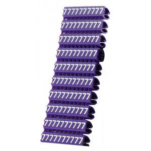 POWERTECH Clip αριθμησης καλωδιου Νο 7, Purple, 10τεμ. CLIP-009