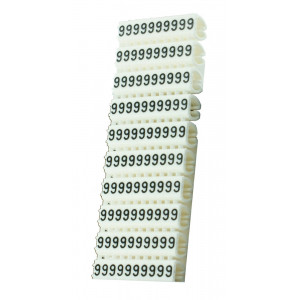 POWERTECH Clip αριθμησης καλωδιου Νο 9, White, 10τεμ. CLIP-011