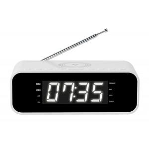 THOMSON Ξυπνητήρι CR255I, FM, ασύρματη φόρτιση, dual alarm, λευκό CR221I