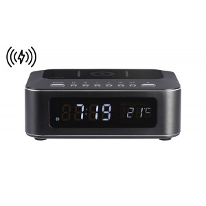 THOMSON Ξυπνητήρι CR400IBT, Βluetooth, USB, ασύρματη φόρτιση, LED, μαύρο CR400IBT
