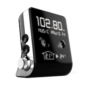 THOMSON Ξυπνητήρι CT390 RDS, FM, ημερολόγιο, θερμοκρασία, LED, μαύρο CT390