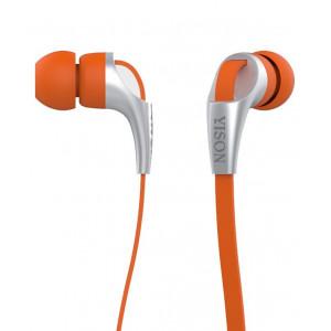 YISON ακουστικά HANDSFREE (ON/OFF) - ORANGE CX330-O