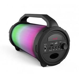 IDANCE Καραόκε ηχείο με μικρόφωνο CYCLONE 400, FM/BT/USB/SD, μαύρο CYCLONE400BK