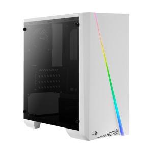 AEROCOOL PC case mini tower CYLON-MINI, 186x381.5x373mm, 1x fan, λευκό CYLON-MINI-WH