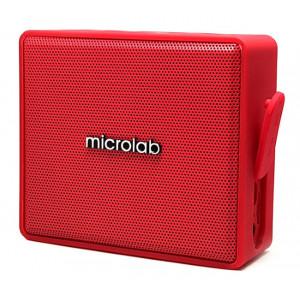 MICROLAB Φορητό ηχείο D15, bluetooth/3.5mm/SD Card, 3W, κόκκινο D15-RD