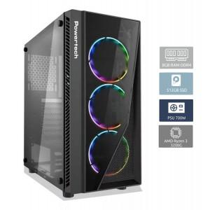 POWERTECH PC DMPC-0002, Ryzen 3 3200G, DDR4 8GB, 512GB SSD, GTX1660 DMPC-0002