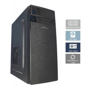 POWERTECH PC DMPC-0003, Ryzen 3 1200, DDR4 4GB, 1TB HDD, GT 710 DMPC-0003