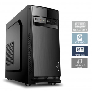 POWERTECH PC DMPC-0007, Ryzen 3 3200G, DDR4 4GB, 1TB HDD, DVD-RW DMPC-0007