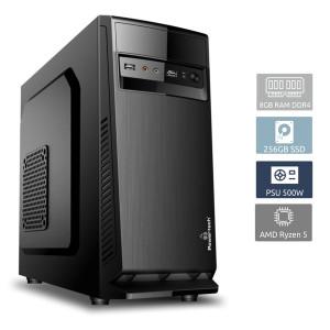 POWERTECH PC DMPC-0014 Ryzen 5 3400G, DDR4 8GB, 256GB SSD DMPC-0014 + PHILIPS set ποντίκι & πληκτρολόγιο SPT8274