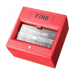 Μπουτόν αναγγελίας πυρκαγιάς DS-911R με κλειδί επαναφοράς, κόκκινο DS-911R