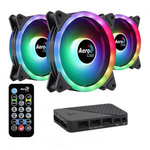 AEROCOOL Kit LED ανεμιστήρων DUO-12PRO, 120mm, RGB DUO-12PRO