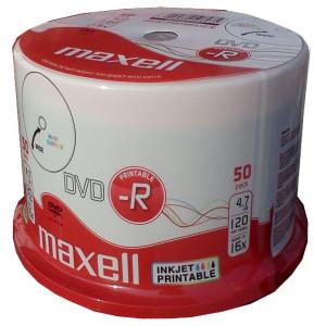 MAXELL DVD-R, 4.7GB/120min, 16x speed, printable, Cake 50 DVD0389