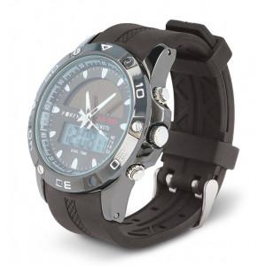 FOREVER Casual Watch DW-300, Digital & Analog, Solar, Alarm, Black DW-300