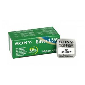 SONY Μπαταρία λιθίου για ρολόγια SR616SW, 1.55V, No321, 10τμχ E-SR616SW