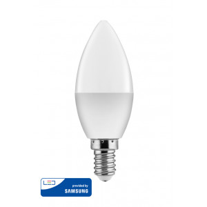 POWERTECH LED Λάμπα Candle 5W, Warm White 3000K, E14, Samsung LED, IC E14-001