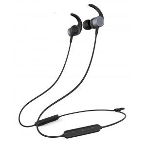 YISON Earphones E17-BK, Bluetooth 5.0, multipoint, με μαγνήτη, μαύρα E17-BK