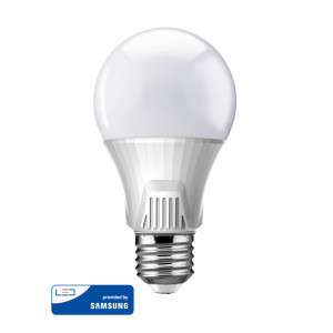 POWERTECH LED Λάμπα Bulb 9W, Daylight 6500K, E27, Samsung LED, IC E27-002